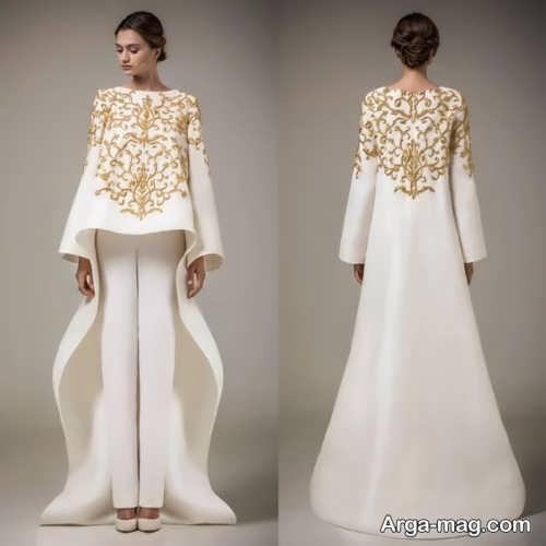 مدل مانتوی کار شده برای عروس