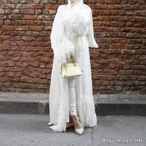 مدل مانتوی بلند عروس
