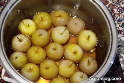 نحوه تهیه مربای سیب درسته