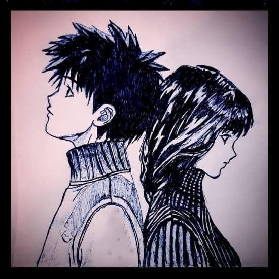 نقاشی رمانتیک و عاشقانه فوق العاده زیبا