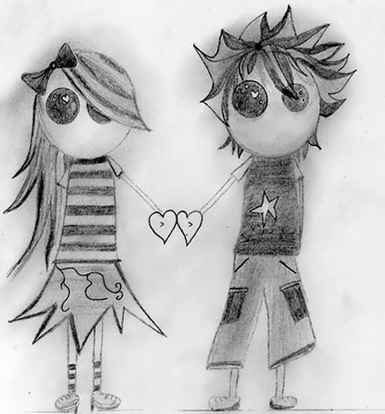 نقاشی رمانتیک و عاشقانه با طراحی متفاوت