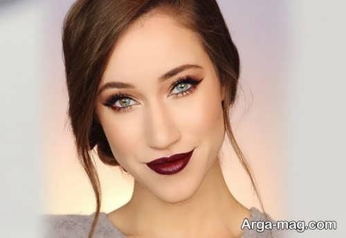 مدل آرایش زیبا و شیک برای صورت
