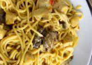 طرز تهیه اسپاگتی با مرغ