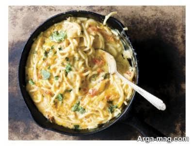 اسپاگتی با مرغ