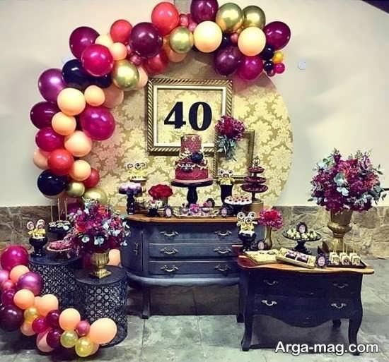 تزیین تولد چهل سالگی