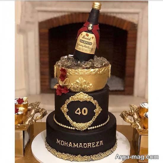 تم کیک تولد چهل سالگی
