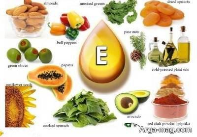 تنواع مواد غذایی غنی از ویتامین e