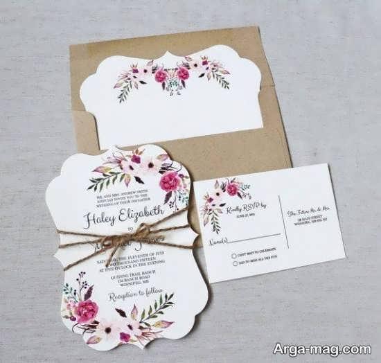 مدل کارت عروسی با طراحی خاص