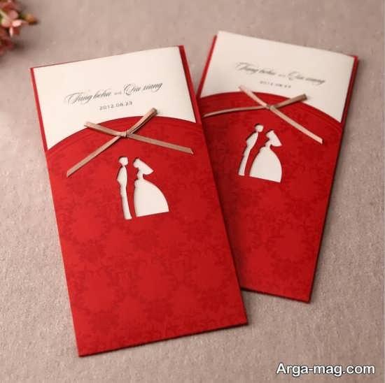 مدل کارت عروسی با طراحی شیک