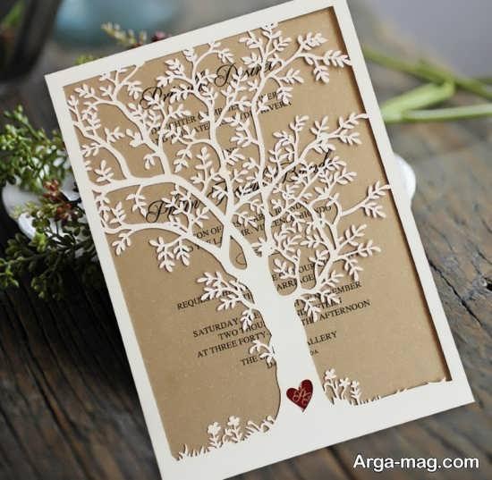 انواع کارت عروسی با طراحی قشنگ