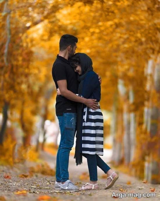 تصویر عاشقانه بدون متن در پاییز