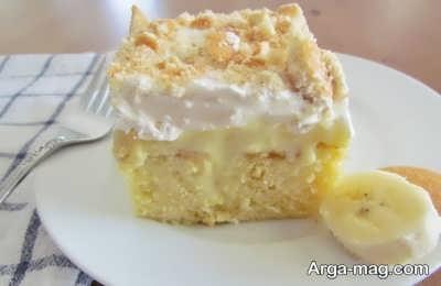 تزیین کیک موزی