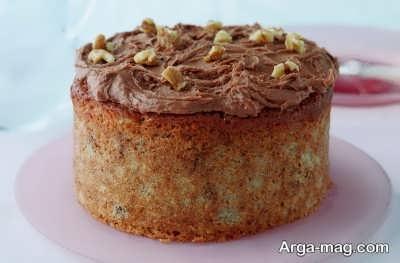تزیین کیک موز