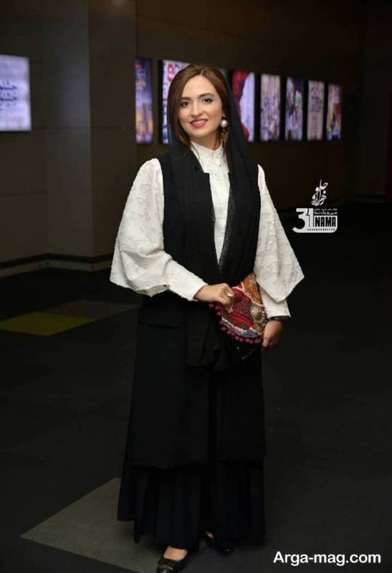 گلاره عباسی با لباس های متفاوت در اکران کارت پرواز