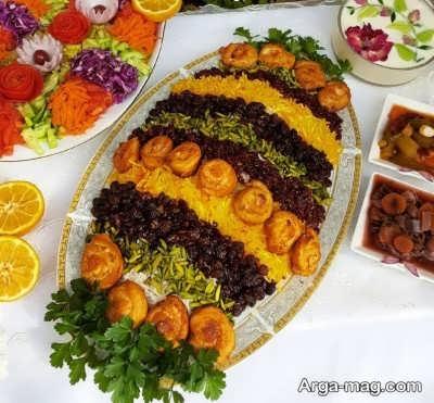 دستور پخت مرصع پلو