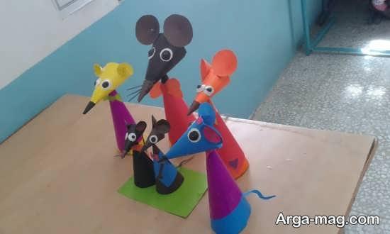 ایده های جذاب برای ساخت کاردستی به شکل موش