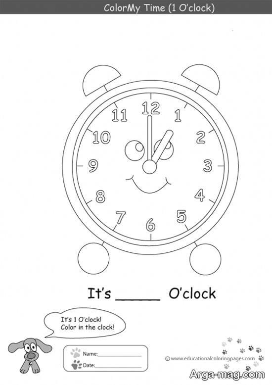 نقاشی ساعت برای آموزش