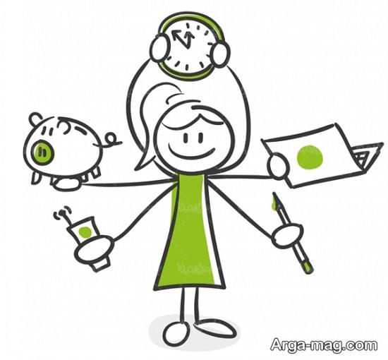 الگوی نقاشی ساعت