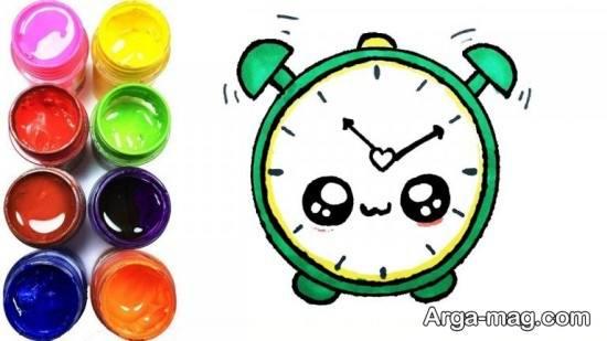 نقاشی ساعت برای کودکان