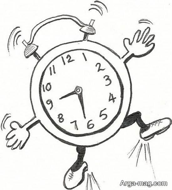 طراحی زیبای ساعت