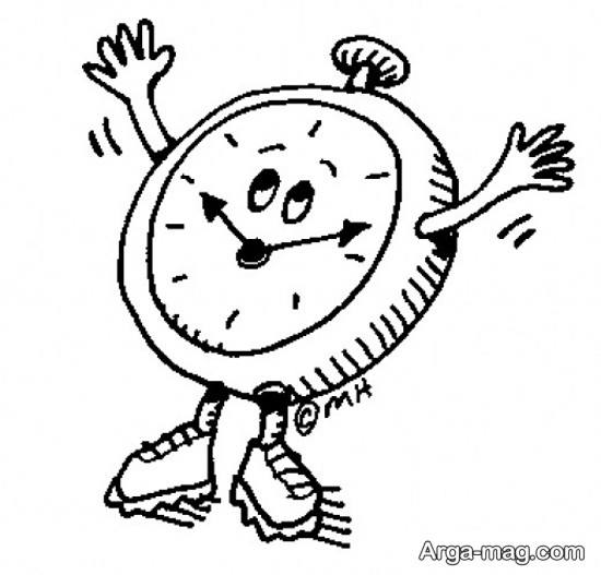 نقاشی انیمیشنی ساعت