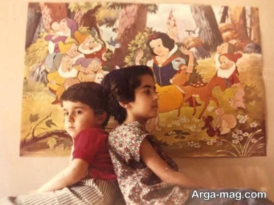 عکس کودکی کمند و سپند امیرسلیمانی