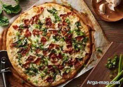 طرز تهیه پیتزا چیکن آلفردو