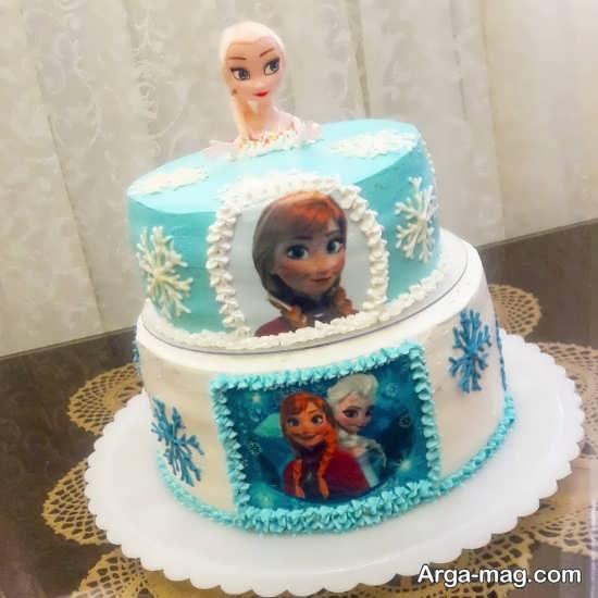السا و آنا کیک تولد