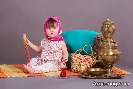 ژست عکس برای کودک