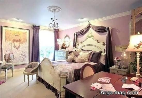 چیدمان زیبای اتاق خواب فانتزی