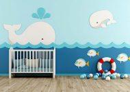دکوراسیون اتاق نوزاد آبی مناسب با سلیقه و روحیه ی کودکان