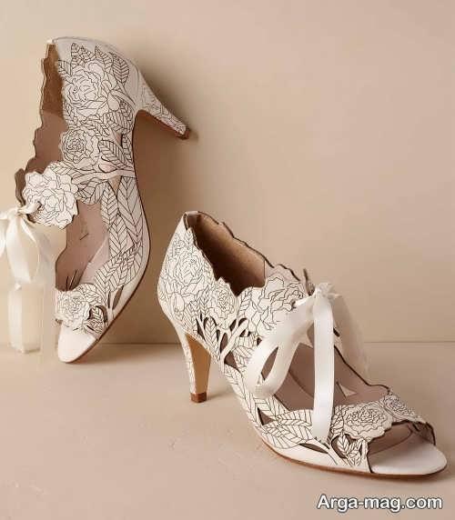 کفش پاشنه کوتاه برای عروس