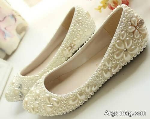 کفش شیک و کار شده عروس