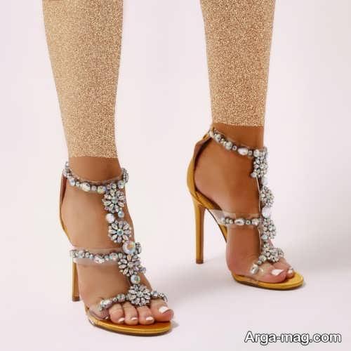 کفش کار شده برای عروس