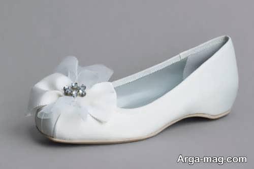 کفش سفید و شیک عروس