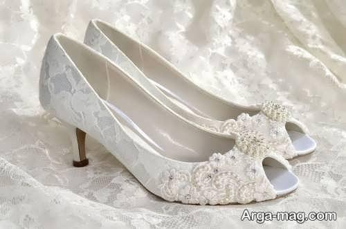 کفش جلو باز عروس