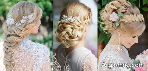 مدل موهای عروس با تاج