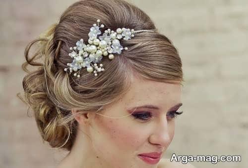 آرایش موی زیبا و بسته عروس