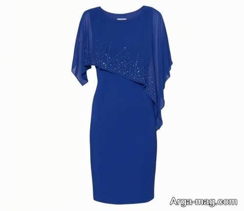مدل لباس مجلسی آبی تیره