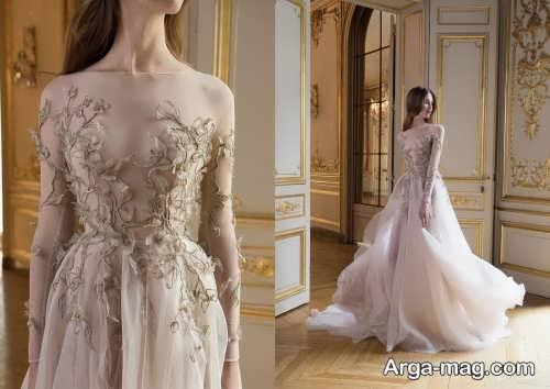 لباس عروس طرح دار