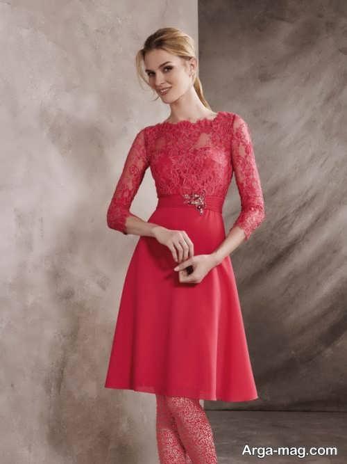لباس مجلسی قرمز و پوشیده