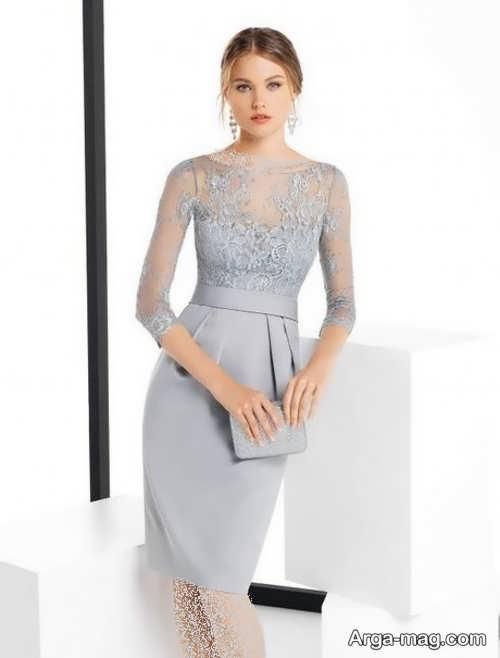 مدل لباس مجلسی کار شده کوتاه
