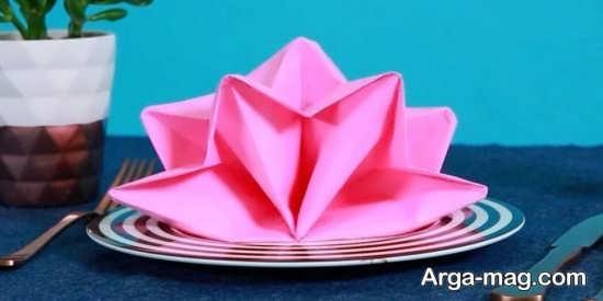 تزئین دستمال سفره به شکل های جالب