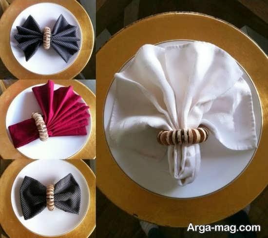 ایده های جالب برای تزئین دستمال سفره