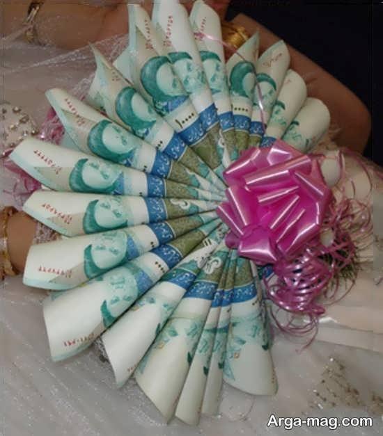 مدل شیک تزئین شاباش عروس و داماد