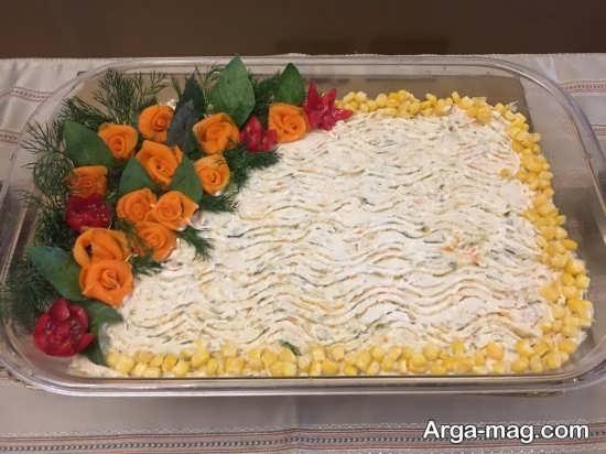 تزئینات دوست داشتنی سالاد الویه قالبی