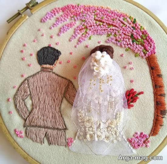 گلدوزی با طرح های عاشقانه زیبا