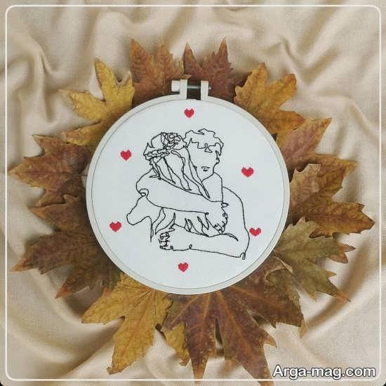 گلدوزی با طرح های عاشقانه خاص