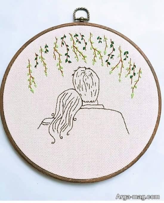 طرح گلدوزی عاشقانه