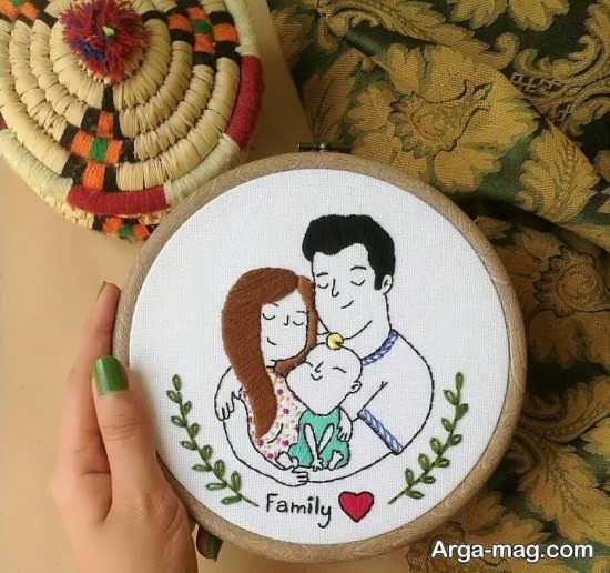 طرح های عاشقانه و خاص برای گلدوزی